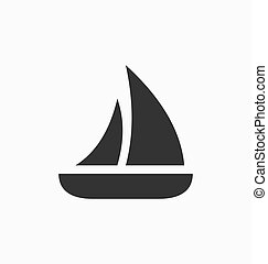 Sailboat icon vector sign