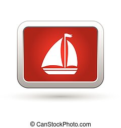 Sailboat Icon. Vector