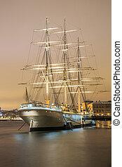 Sailboat in Stockholm Sweden