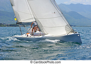 Sailboat in the action