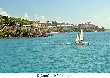 Sailboat in the US Virgin Islands
