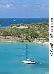 sailboat in virgin islands