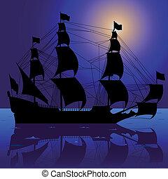 sailboat, noturna
