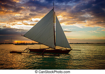 Sailboat on the sunset
