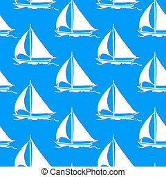 sailboat, papel parede, seamless