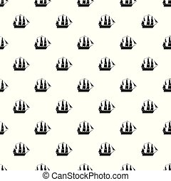 Sailboat pattern vector seamless repeating for any web design