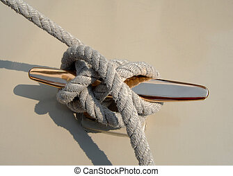 sailboat rope on cleat