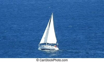 Sailboat Sailing In Ocean