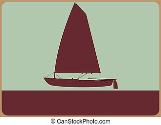 Sailboat sign