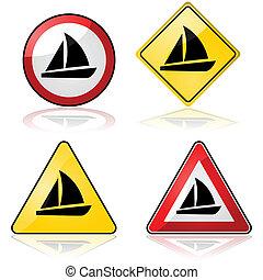 Sailboat signs