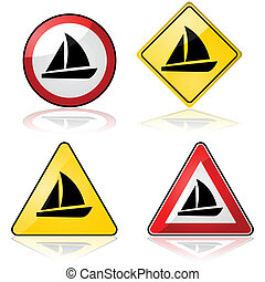 Sailboat signs