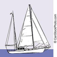 sailboat sketch illustration