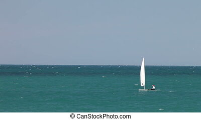 Sailboat -  Sailing boat at an open sea