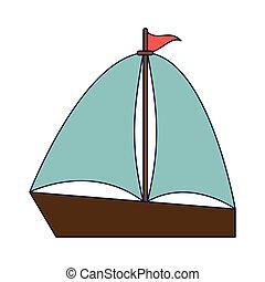 Sailboat summer symbol