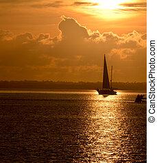 Sailboat upon Reflection