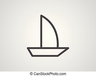 Sailboat vector icon sign symbol