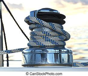 sailboat, winch
