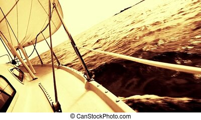 Sailboat - Yellow tinted