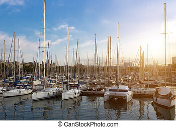sailboats, концепция, весна