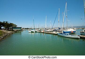 Sailboats at the waterfront