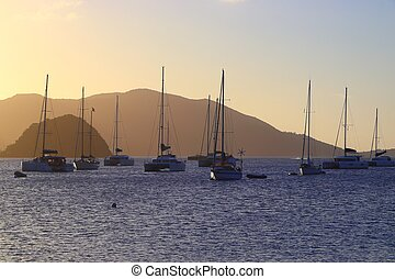 Guadeloupe and Les Saintes islands. Sailing in the Caribbean.