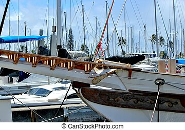 Sailboats in the harbor 6