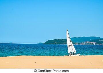 Sailboats on beach
