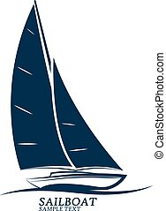 sailboats vector - sailing boats vector. illustration