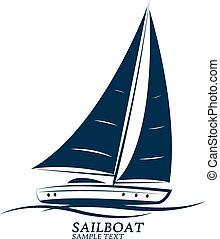 sailboats vector - sailing boats vector. illustration