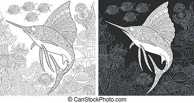 sailfish, coloration, page