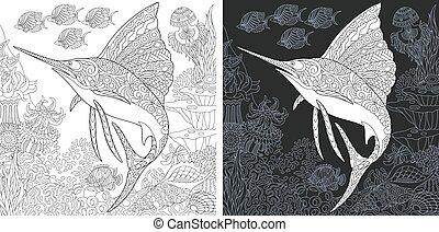 sailfish, coloritura, pagina