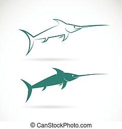 sailfish, imagen, vector, fondo blanco