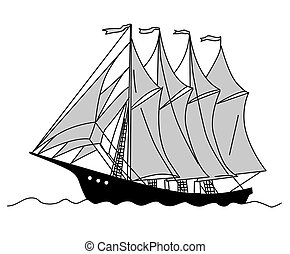 sailfish silhouette on white background,