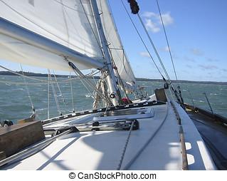 Sailing 1 - Part of a sailing boat.