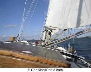 Sailing 4 - Part of a sailing boat.