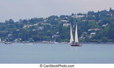"""sailing at geneva lake, switzerland"""