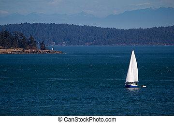 Sailing at Vancouver Island