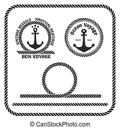 Sailing badges with anchor