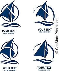 sailing barco, vetorial