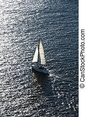sailing., bateau