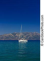 sailing blue Mediterranean sea