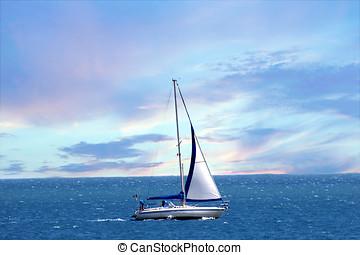 Sailing Boat  - A sailing boat on the sea
