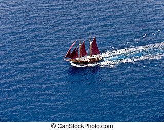 Sailing boat, aerial