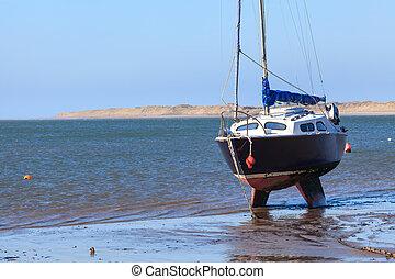 Instow Devon England - Sailing boat at Instow Devon England...