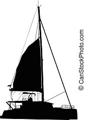 sailing boat catamaran