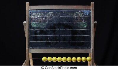 sailing boat chalkboard