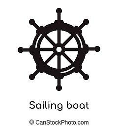 Sailing boat icon isolated on white background