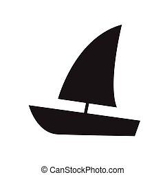 Sailing boat icon vector illustration