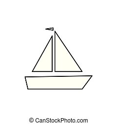 sailing boat icon