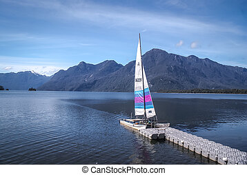 Sailing boat in Chile